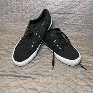 Old Navy Black white Lace Up Canvas Sneaker 8